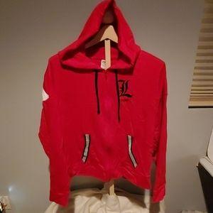NWT Victoria Secret PINK Louisville hoodie sz lrg